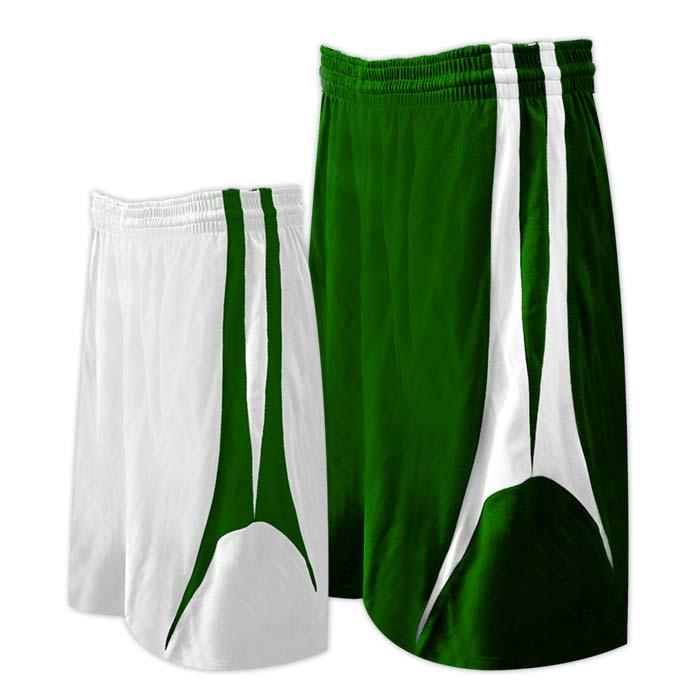Alleson reversible basketball short in forest white