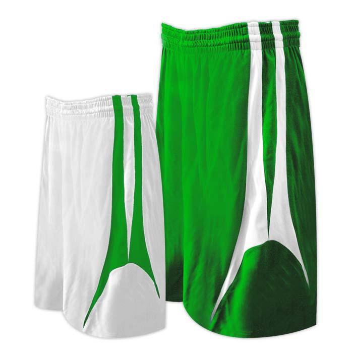 Alleson reversible basketball short in kelly white