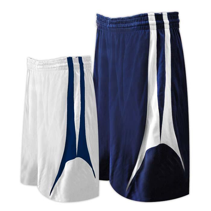 Alleson reversible basketball short in navy white