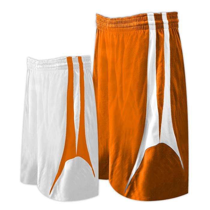 Alleson reversible basketball short in orange white