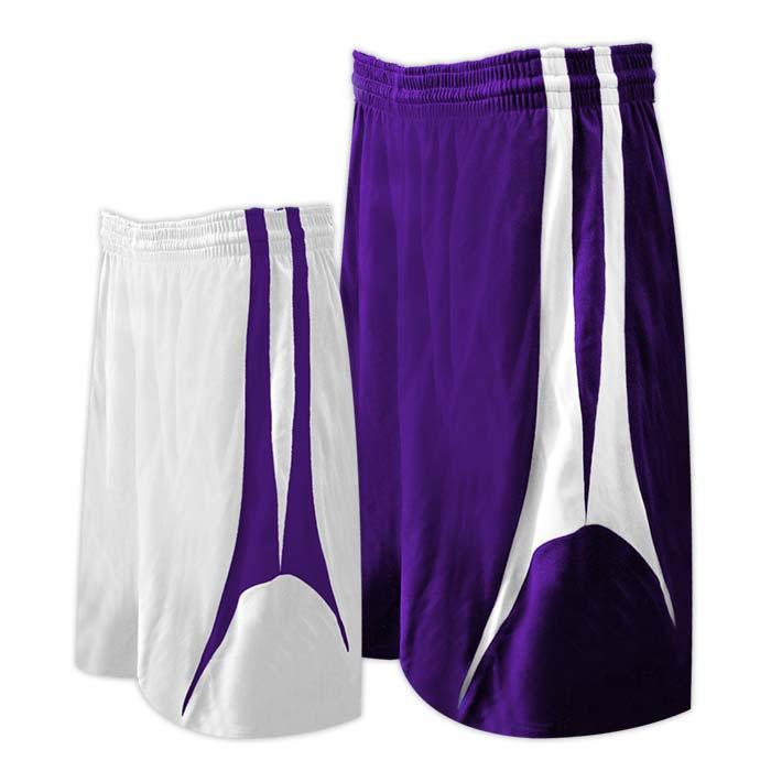 Alleson reversible basketball short in purple white