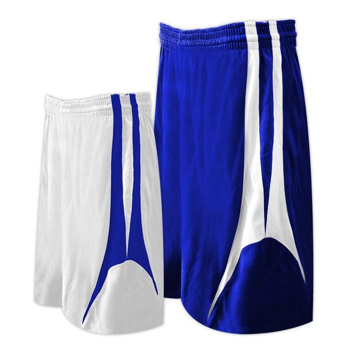 Alleson reversible basketball short in royal white