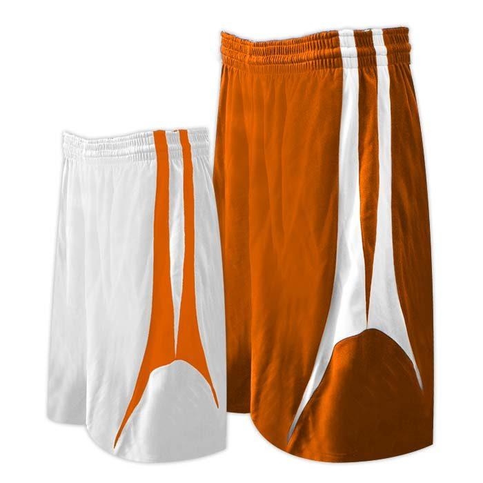 Alleson reversible basketball short in Texas orange white