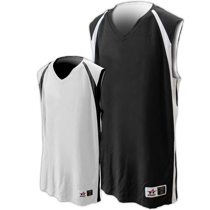 Alleson reversible basketball jersey in black white