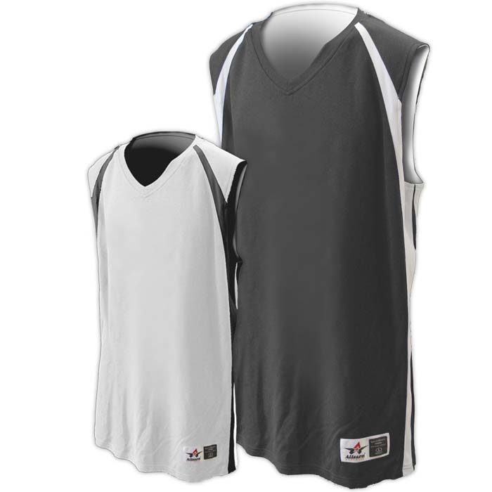 Alleson reversible basketball jersey in charcoal white