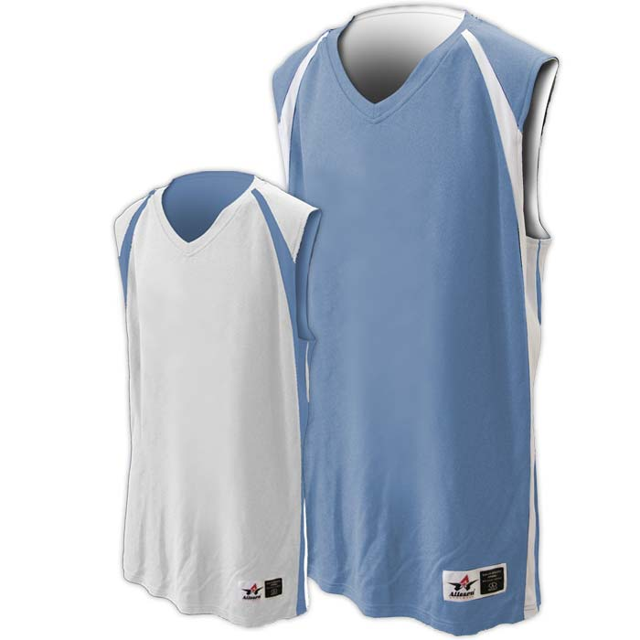 Alleson reversible basketball jersey in columbia blue white
