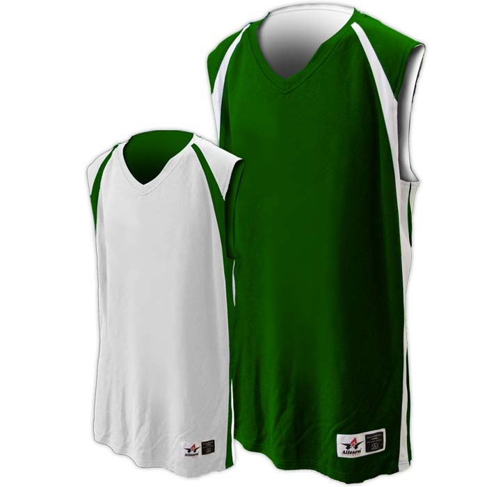 Alleson reversible basketball jersey in forest white