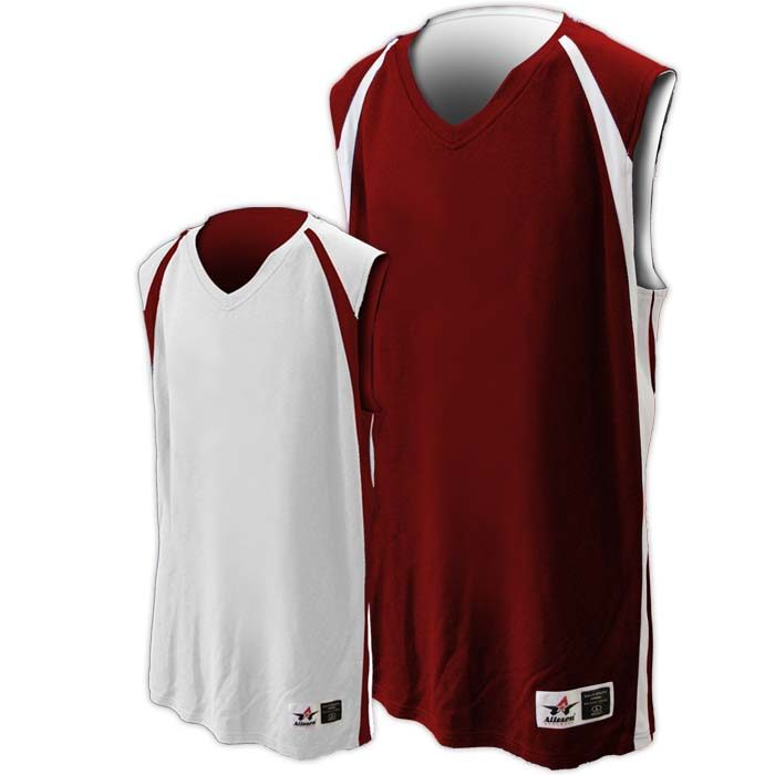 Alleson reversible basketball jersey in maroon white