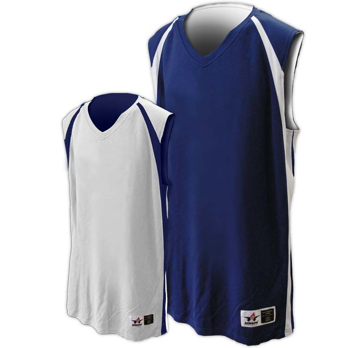 Alleson reversible basketball jersey in navy white