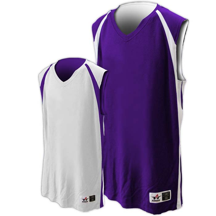 Alleson reversible basketball jersey in purple white