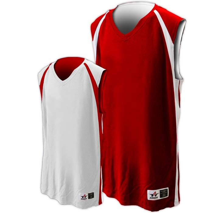 Alleson reversible basketball jersey in red white