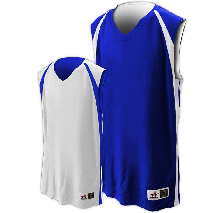 Alleson reversible basketball jersey in royal white
