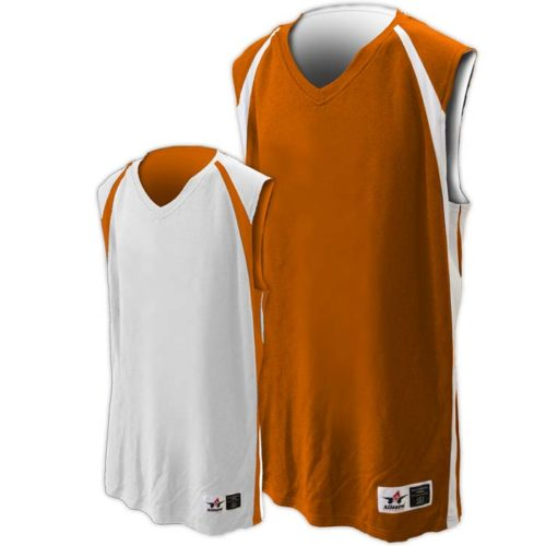 Alleson reversible basketball jersey in Texas orange white