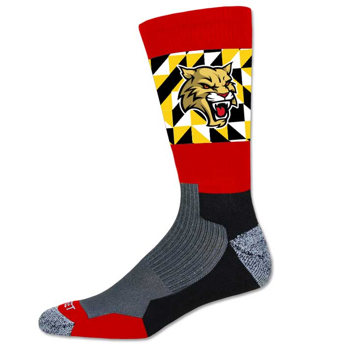 Pro Ink Custom Sublimated Crew Socks with Team Mascot