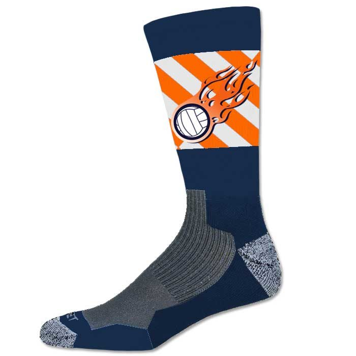 Pro Ink Custom Sublimated Crew Socks with Team Logo