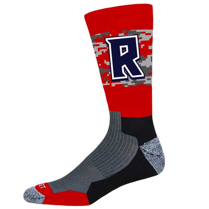 Pro Ink Custom Crew Socks to match our reversible Hook Shot Basketball Uniform
