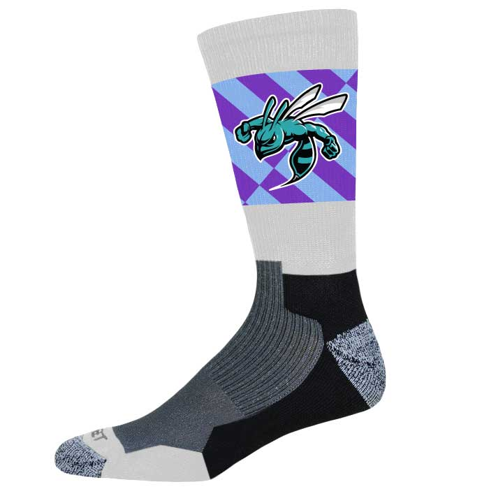 Pro Ink Custom Crew Socks to match Elite Super Arrow Basketball Uniform