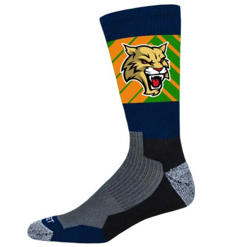 Pro Ink Custom Crew Socks to match Elite Wildcat Basketball Uniform