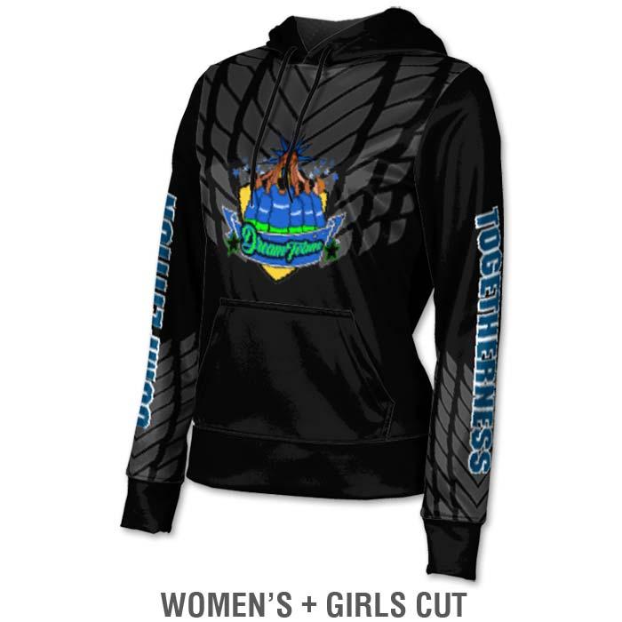 Ladies Custom Sublimated ProSphere Dark Armour Hoodie
