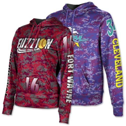Custom Sublimated ProSphere Digital Camo Hoodie