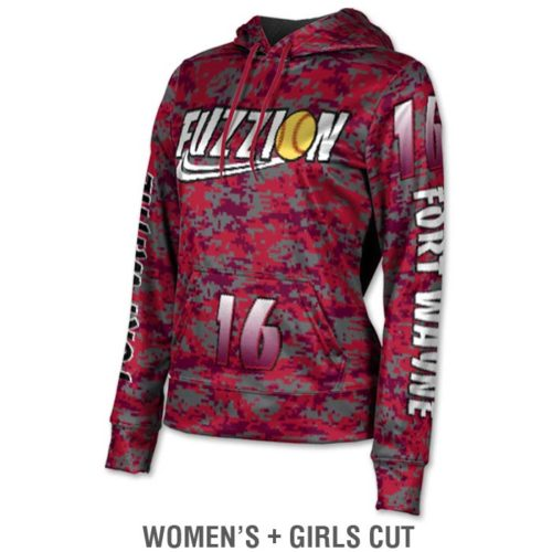 Ladies Custom Sublimated ProSphere Digital Camo Hoodie