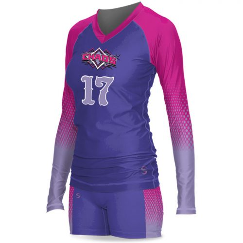 Custom Sublimated ProSphere Floater Women's Volleyball Uniform Side View