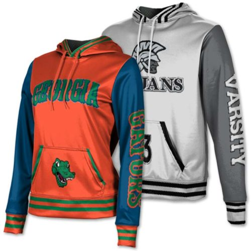 ProSphere Letterman Hoodie, Custom Sublimated