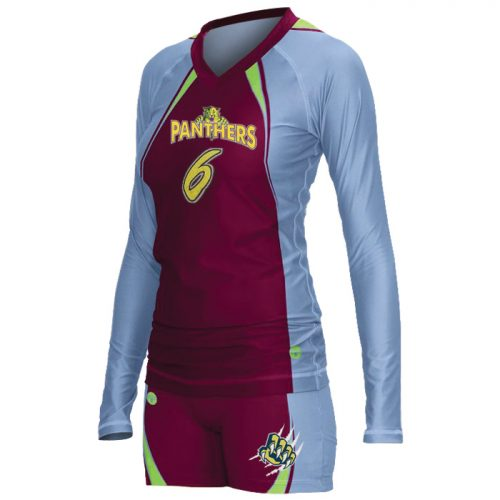 Women's ProSphere Spark, custom sublimated Volleyball Uniform with Longsleeve Jersey