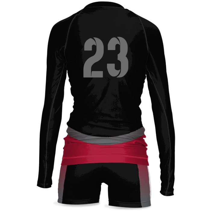 Custom Sublimated ProSphere Tandem Women's Volleyball Uniform Back View