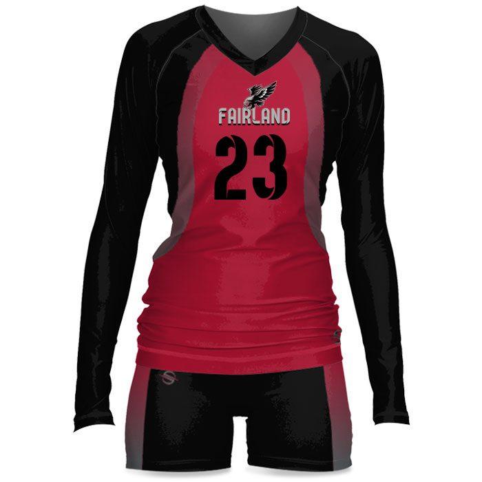 Custom Sublimated ProSphere Tandem Women's Volleyball Uniform