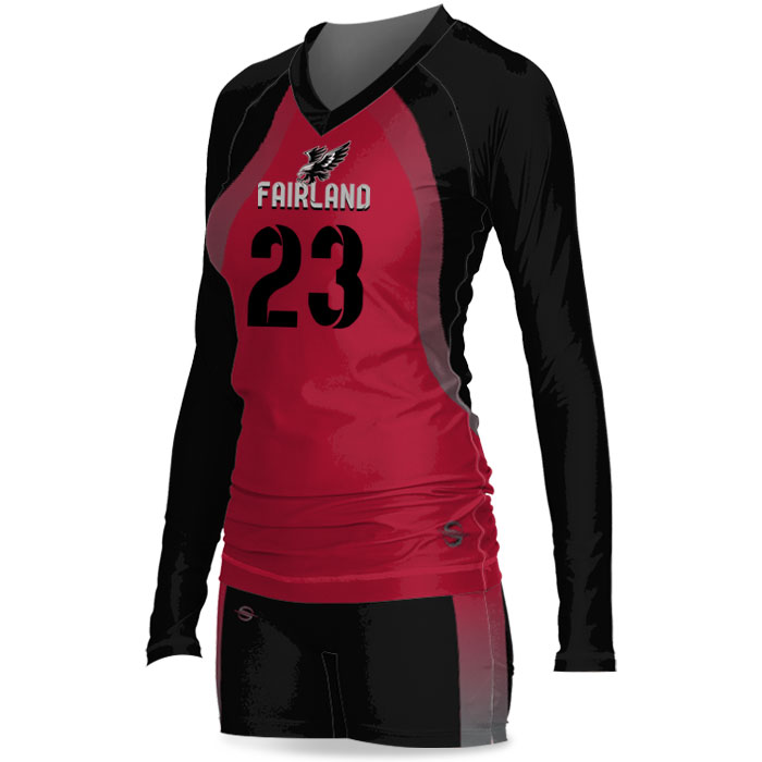 Custom Sublimated ProSphere Tandem Women's Volleyball Uniform Side View