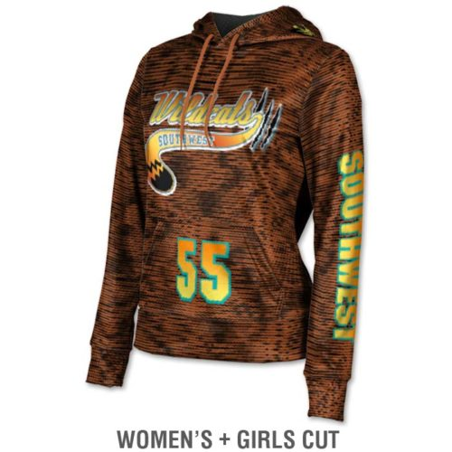 Ladies Custom Sublimated ProSphere Velocity Hoodie