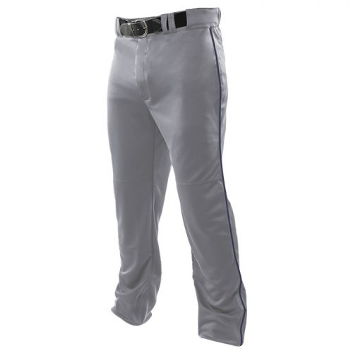 Baseball Relief Piped Pant in Grey/Navy