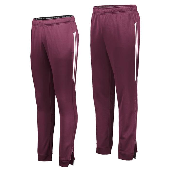 Retro Grade Warmup Tapered Pants in Maroon