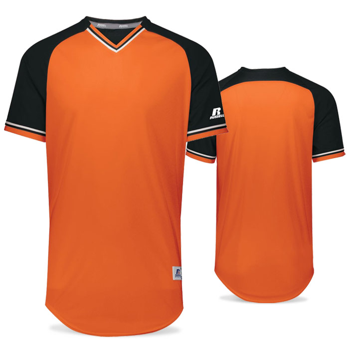 Russell Classic BB Bundle Jersey in Burnt Orange, Black, and White