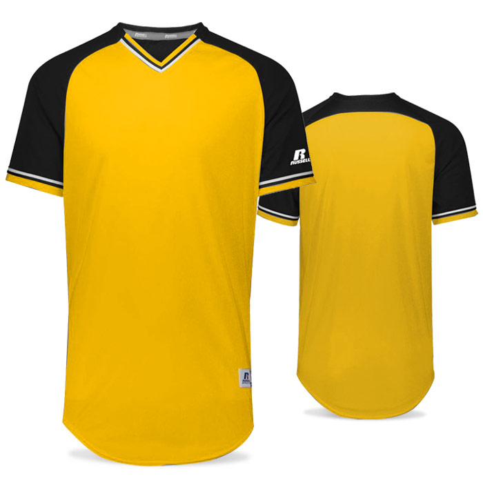 Russell Classic BB Bundle Jersey in Gold, Black, and White
