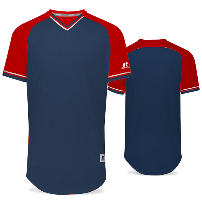 Russell Classic BB Bundle Jersey in Navy Blue, True Red, and White