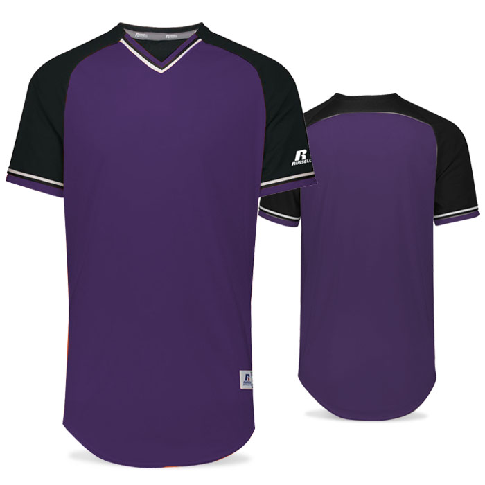 Russell Classic BB Bundle Jersey in Purple, Black, and White