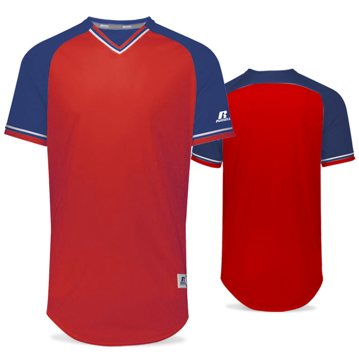Russell Classic BB Bundle Jersey in True Red, Royal Blue, and White