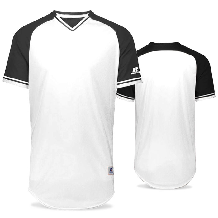 Russell Classic BB Bundle Jersey in White and Black