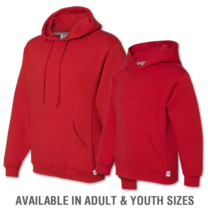 Russell Dri-Power Hoodie in Red