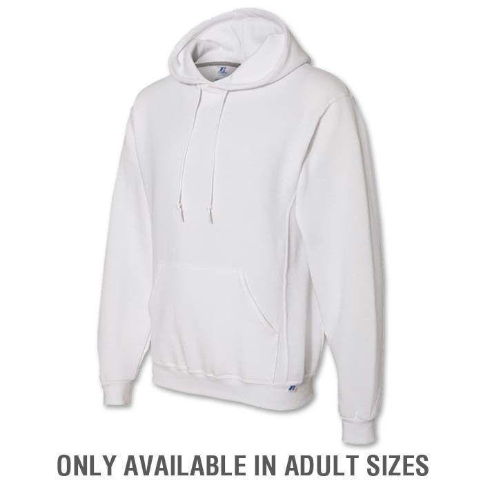Russell Dri-Power Hoodie in White