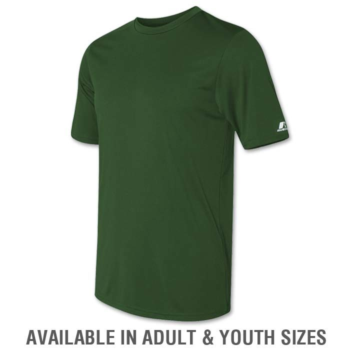Russell Dri-Power Tee in Forest Green