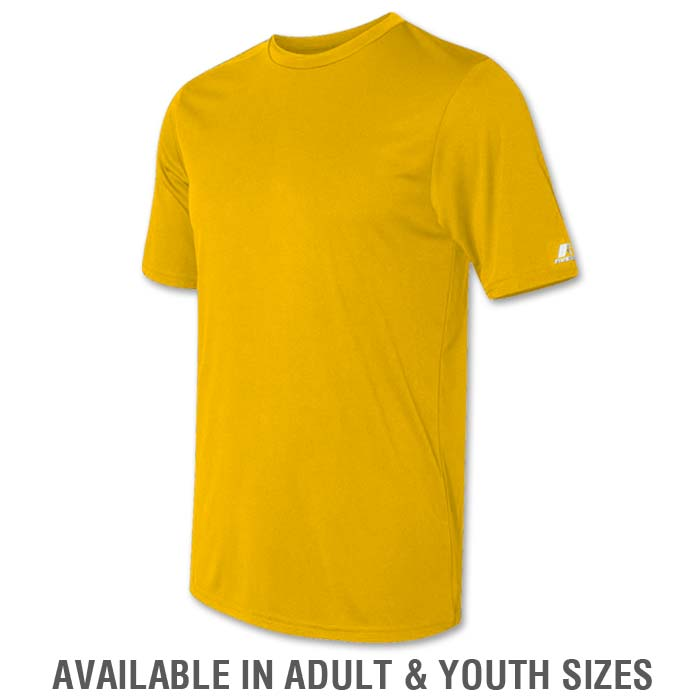 Russell Dri-Power Tee in Athletic Gold