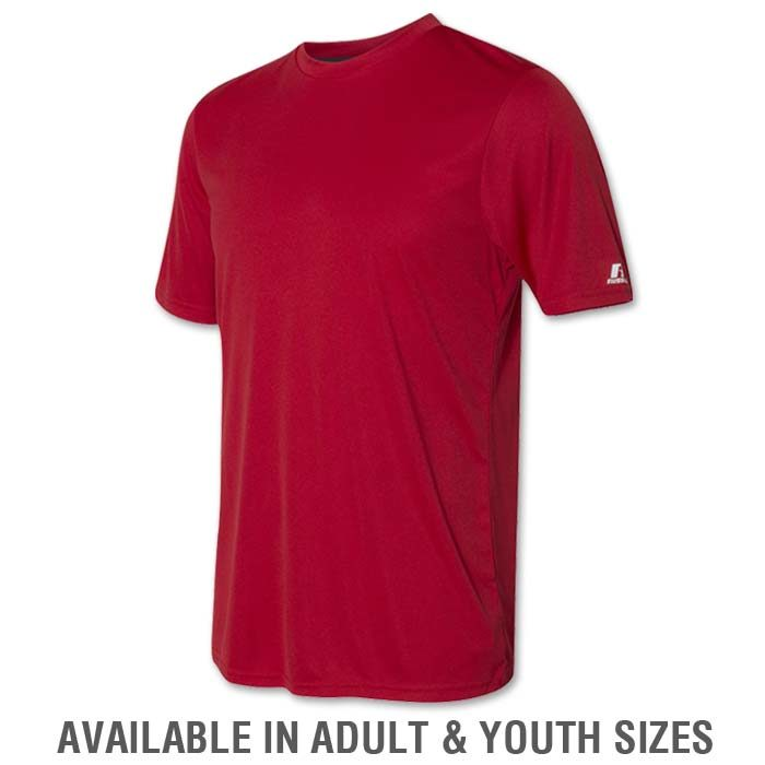 Russell Dri-Power Tee in Red