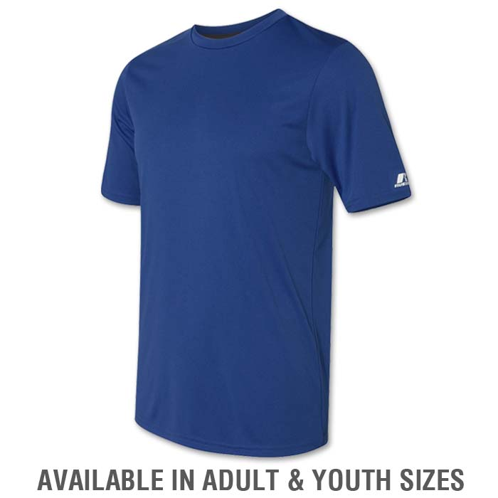 Russell Dri-Power Tee in Royal Blue