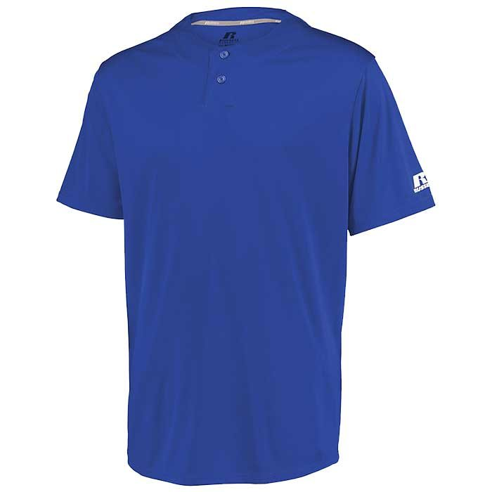 Russell Torrent 2-Button Baseball Jersey by Russell Athletic