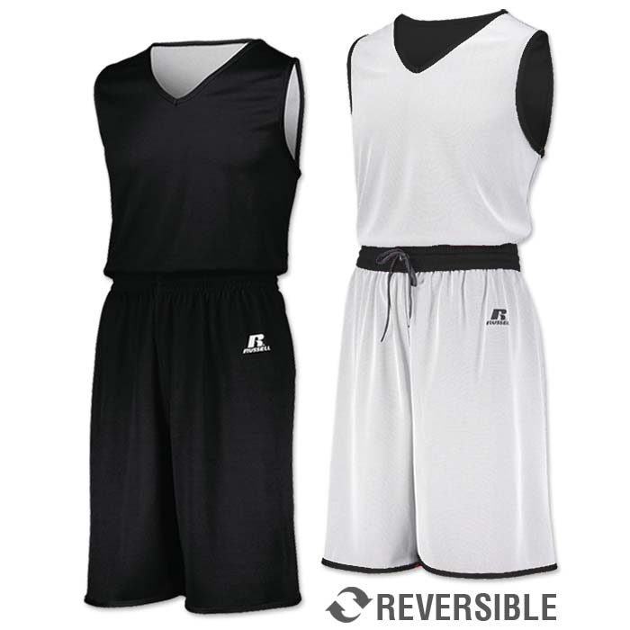 Russell Undivided Reversible Basketball Uniform in Black