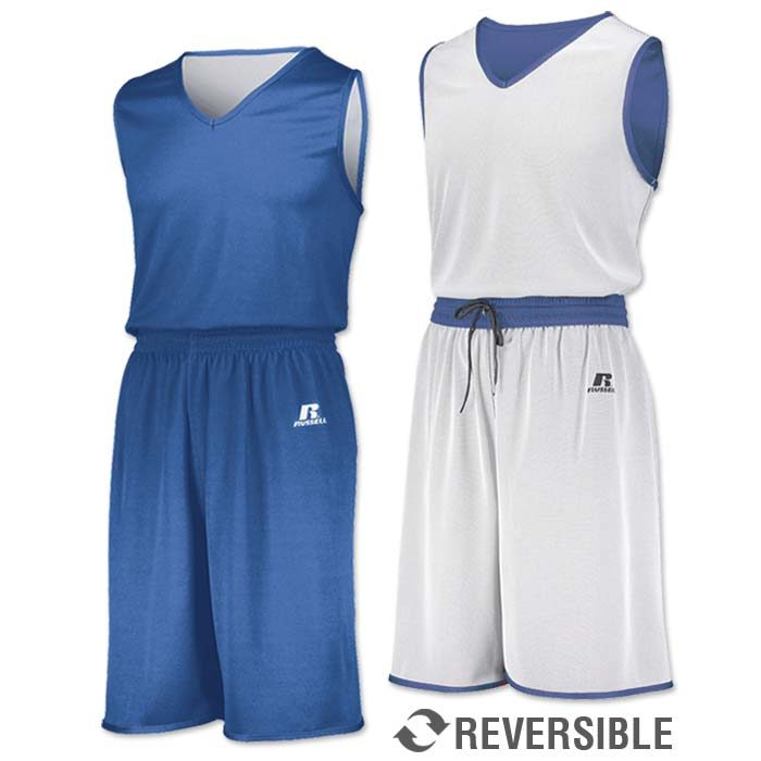 Russell Undivided Reversible Basketball Uniform in Columbia Blue