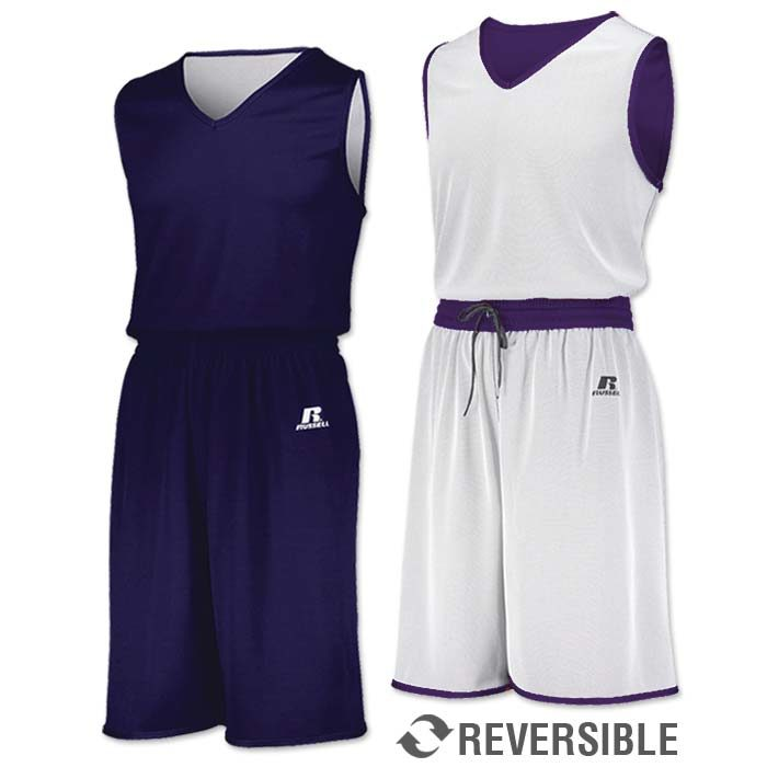 Russell Undivided Reversible Basketball Uniform in Purple